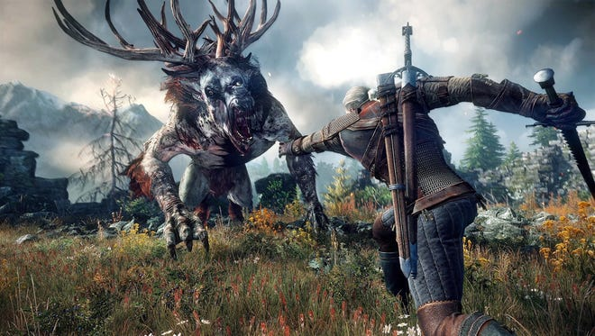 """Explore an expansive world and hunt strange creatures in action RPG """"The Witcher 3: Wild Hunt."""""""