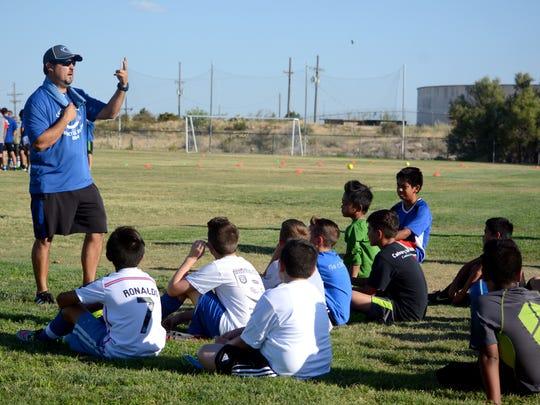 Carlsbad coach Rick Castillo discusses upcoming drills
