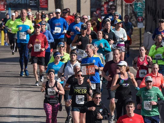 Runners hit the course for the 2018 Earth Day Half Marathon in St. Cloud.