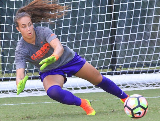 Clemson women's soccer senior goalie Kailen Sheridan