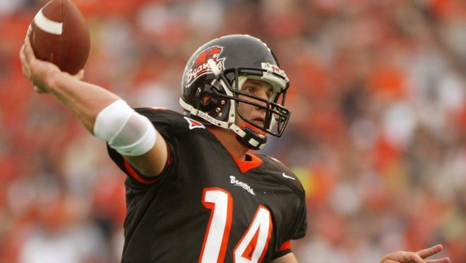Former Oregon State quarterback Derek Anderson led the Beavers to three consecutive bowl games and is second in school history in passing yards and touchdown passes.