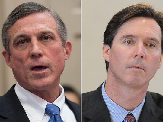 Gov. John Carney and state Treasurer Ken Simpler are