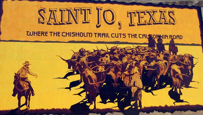 Saint Jo, Texas, Chisholm Trail mural