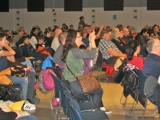 Parents, friends and family members of the young spellers filled the Millennium Middle School cafeteria.