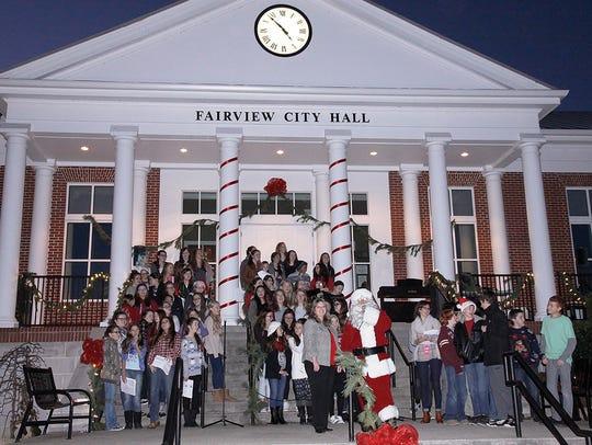 Fairview's Annual City Christmas Tree Lighting ceremony