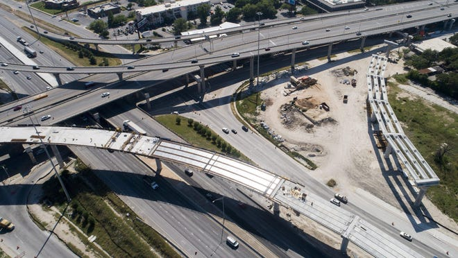 Construction work continues in May on the interchange at Interstate 35 and U.S. 183 in north Austin.
