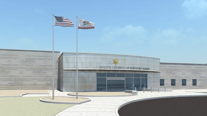An artist'srendering of the jail planned to be built in south Tulare County.
