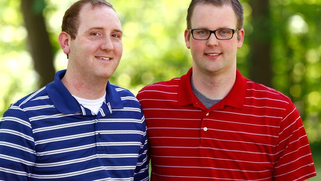 Chris and Bryan Dwiggins were the first gay couple to legally marry in Richland County after the U.S. Supreme Court passed its ruling last year.