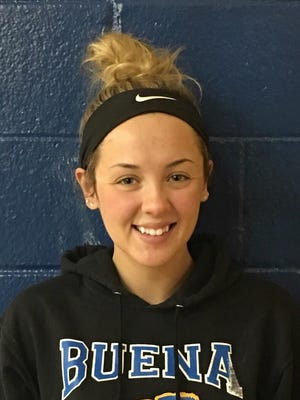 Buena senior forward Hannah Cintron