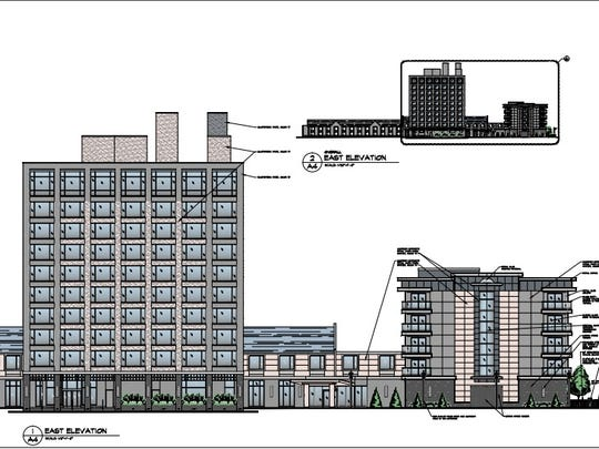 A rendering of the elevations of the proposed expansion.