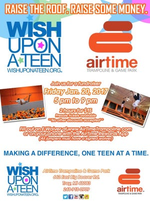 AirTime in Troy is holding a fundraiser Friday for Wish Upon a Teen.