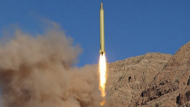 A handout picture made available by the Iran's Revolutionary Guard Corps shows an Iranian long range missile launched at an undisclosed location in Iran on March 9, 2016. Media reported that Iran has tested ballistic missiles again on 09 March one day after conducting several ballistic missile tests.  EPA/SEPAHNEWS / HANDOUT BEST QUALITY AVAILABLE HANDOUT EDITORIAL USE ONLY/NO SALES ORG XMIT: ABD04