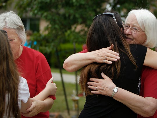 There was no shortage of tearful embraces Friday afternoon