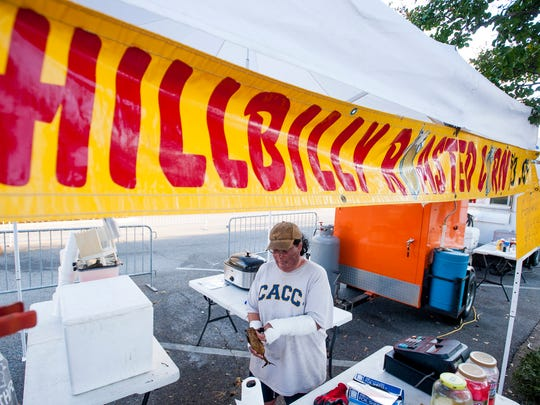 Carmen Winslett of Hillbilly Roasted Corn was burned when a propane tank exploded while she was working at the Firefighters Combat World Challenge.