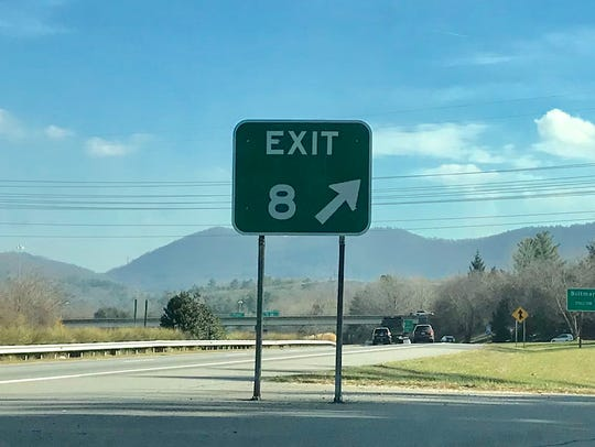 A reader complained that Exit 8 in East Asheville off
