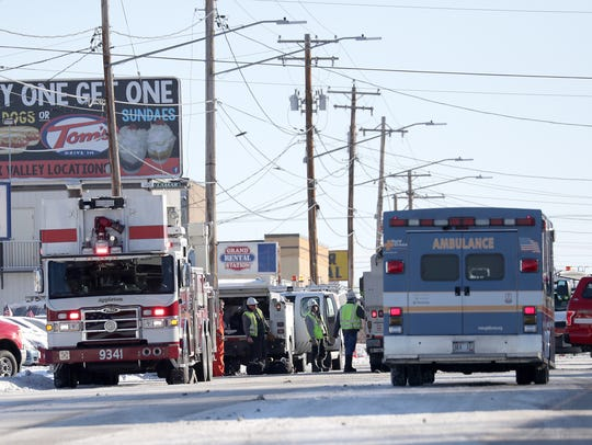 Appleton firefighters were on the scene of a reported gas leak on Wisconsin Avenue Tuesday morning. Wm. Glasheen/USA TODAY NETWORK-Wisconsin.