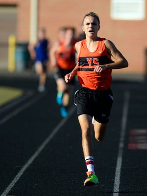 York Suburban's Jarrett Raudensky won the boys' cross country race at Codorus State Park on Tuesday, Sept. 26.