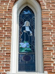 This stained glass window at St. Luke's Episcopal Church