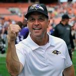 Ravens coach John Harbaugh