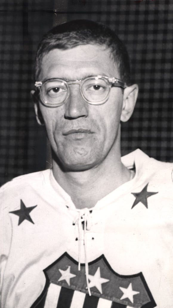 Al Arbour, shown here in 1963, was a 1st-team AHL All-Star