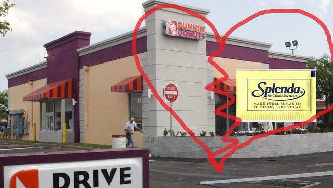 Dunkin Donuts and Splenda have parted ways and now the two could end up fighting each other in court.