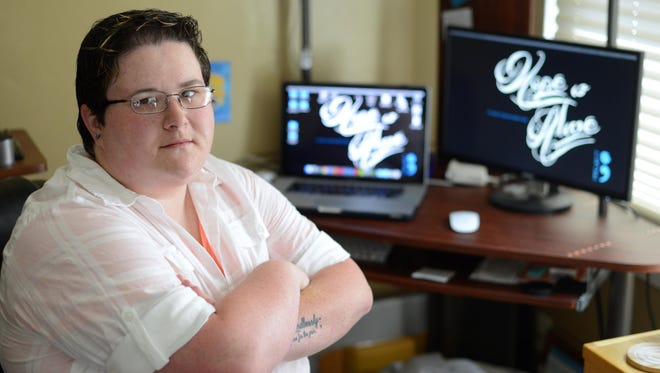Amy Bleuel lost her father to suicide in 2003 and started Project Semicolon in 2013.