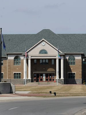 Fishers City Hall and Liberty Plaza  at the Fishers Thomas A. Weaver Memorial Municipal Complex March 24, 2014.