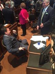 State Reps. Stuart Bishop, R-Lafayette, and Lance Harris,