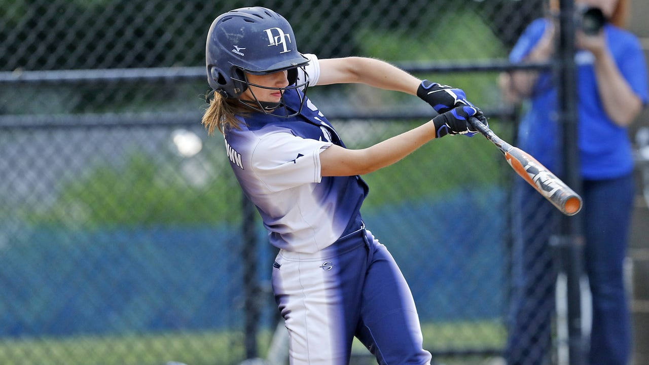Kelsie Merriman pitched a complete game and Krista Flemmens hit an inside-the-park home run to lift Dallastown softball to a 2-1 home win over New Oxford on Wednesday.