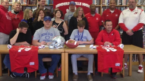 Hendersonville's J.C. Freeman and Sawyer Heery have signed to play college football for Brevard.