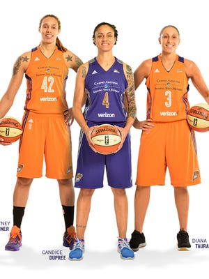 The Mercury's new 2016 uniforms feature new colors, their championship trophies, a new 20th anniversary logo and a sponsorship with Verizon