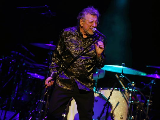 Robert Plant and The Sensational Space Shifters perform during a sold out show at Phoenix Symphony Hall in Phoenix on Monday, Feb. 26, 2018.