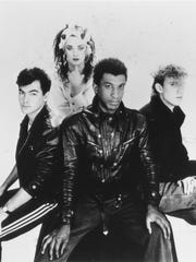Culture Club in 1984: Jon Moss (from left), Boy George,