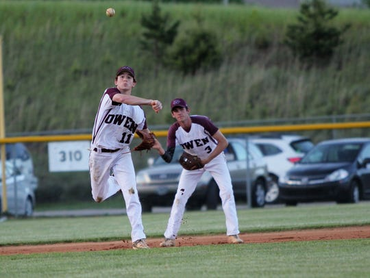 Jake Roseman (11) received an honorable mention on
