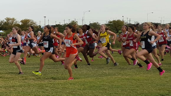 The start of the Region 1-5A race in Lubbock.