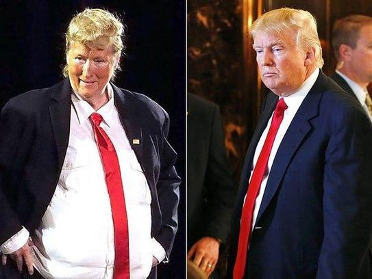 Meryl Streep se disfrazó de Donald Trump para una aparición