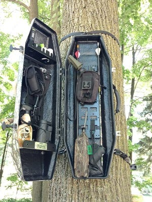 Hunters can use Mekco's new Timber Locker to store their gear in tree stands.