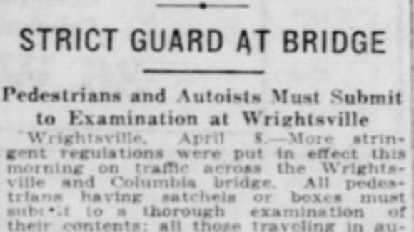 From the York Daily, April 6, 1917.