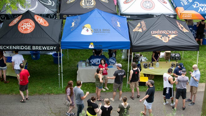 Overhead views of the 2nd Annual Boonton Main Street Rock & Brew Festival held at Canalside Park  on Saturday, June 2 2018.