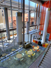 The atrium of the Saguaro Building at Mesa Community
