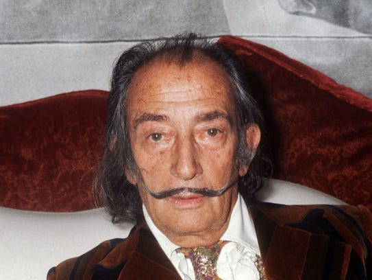Spanish artist Salvador Dali in Paris in 1972.