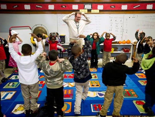 Treadwell Elementary School music teacher Ed Murray