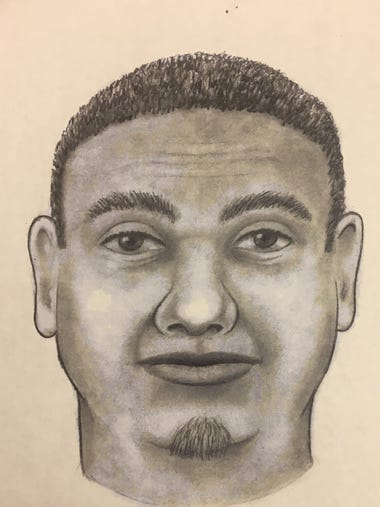A police sketch of the man police believe killed a