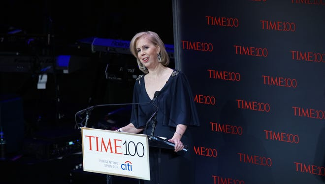 Time magazine Editor-in-Chief Nancy Gibbs at the 2017 Time 100 Gala on April 25, 2017 in New York City.