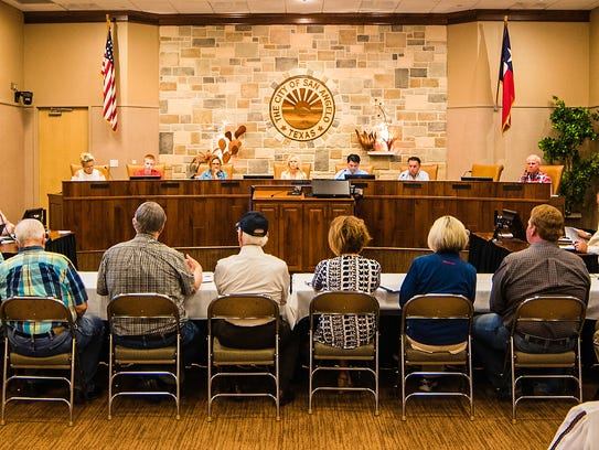 The San Angelo City Council and the Santa Fe Rail Museum
