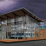A conceptual design of New Belgium's new Asheville, N.C., brewery, which will begin construction May 1.