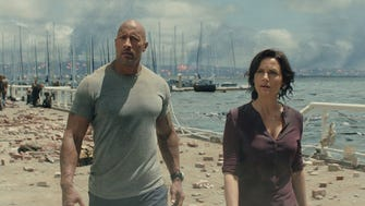 Dwayne Johnson and Carla Gugino star as an estranged couple searching for their daughter in 'San Andreas.'