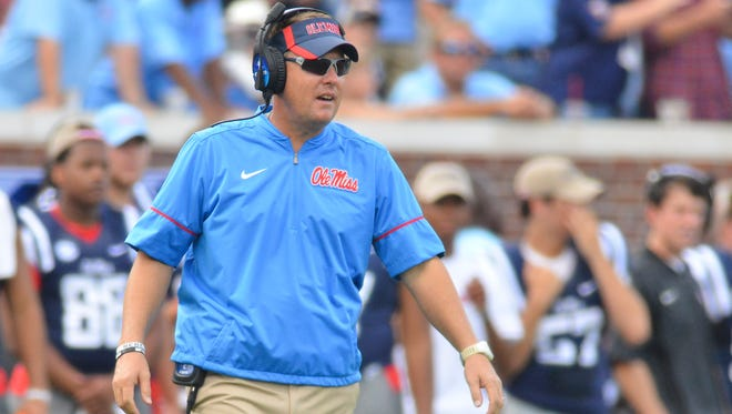 Ole Miss coach Hugh Freeze and his team will try to snap their three-game losing streak this week.