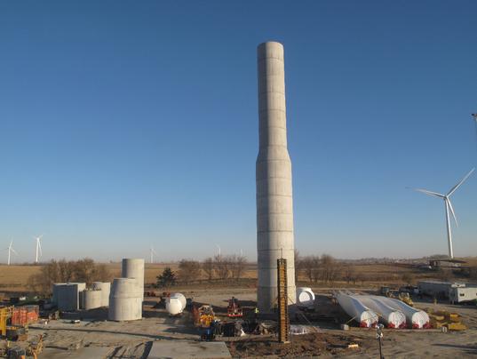 concrete turbine tower
