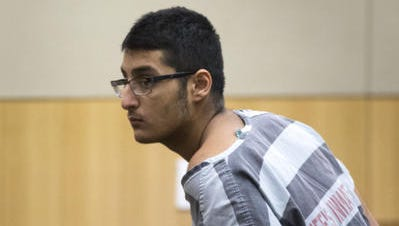 Mahin Atif Khan is arraigned July 12, 2016, in Judge Sam Myers' Maricopa County Superior courtroom.
